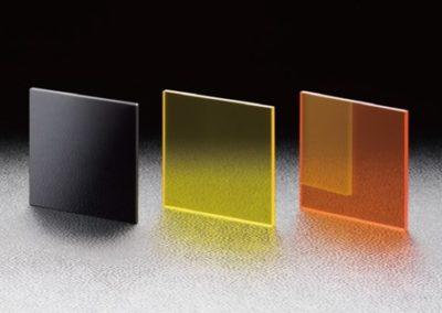 Filtros de vidrio de colores